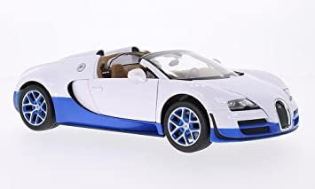 5a1df935f460 Bugatti Veyron 16.4 Grand Sport Vitesse, weiss blau, Modellauto,  Fertigmodell, Rastar
