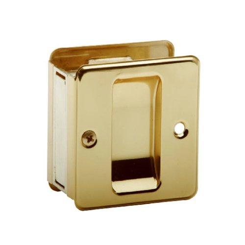 SCHLAGE LOCK CO SC990B-605 Schlage Sc990B3 Door Pull, 2-3/4 In L 2-1/2 In D, Solid, Bright Brass