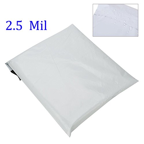 SJPACK 10x13-inch 100 Bags 2.5 Mil Poly Mailers Envelopes Bags With Self-sealing Stripe, White Poly Bags Photo #3