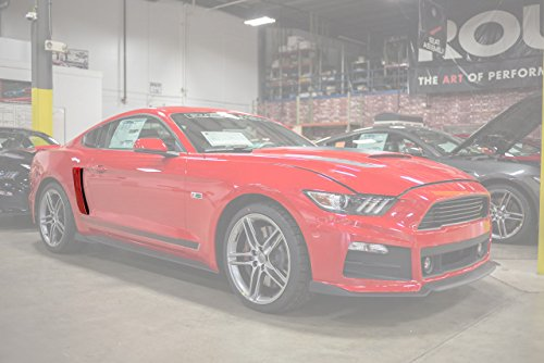 2015-2019 Mustang Roush Painted Quarter Panel Side Scoops - Race Red PQ