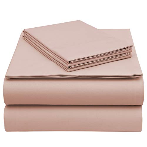 EnvioHome GOTS Certified Organic Cotton Sheet Set - 4 Pc - Blush, Cal King