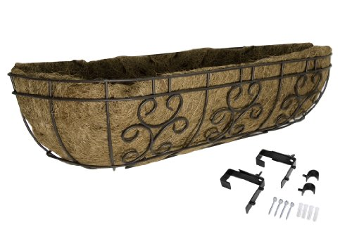 (Panacea Products 88530 Series 30-Inch Window/Deck Planter, Cameo BRWN, Brown)