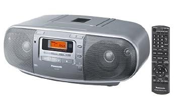 Panasonic RX-D50AEG-S - Reproductor de CD, radio, casete (60 W RMS, radio FM/AM), color plateado: Panasonic: Amazon.es: Electrónica
