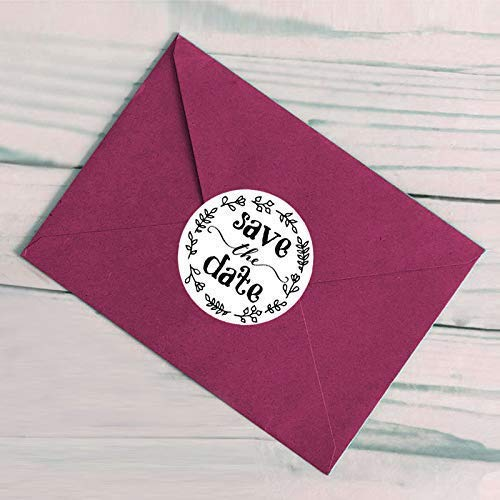 120PCS Save The Date Labels Stickers Envelope Seal Bridal Shower Stickers Save The Date Wedding Stickers Wedding Favor Stickers