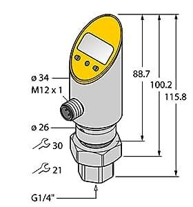 turck Sensor de presión ps400r de 501# 6832229li2upn8X de H1141Impresión Interruptor 4047101168372