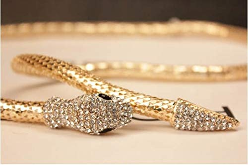 Fashion Collier Jewelry Full Rhinestone Austria Accessories Gold Silver Crystal Snake Necklace
