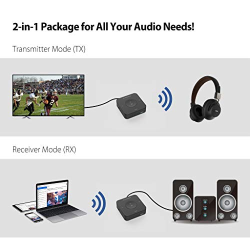 2019 Avantree TC417 aptX Low Latency Bluetooth Transmitter Receiver with Volume Control (Optical Digital Toslink, 3.5mm AUX, RCA), 20 Hrs Playtime, Wireless Audio Adapter for TV, Home Stereo by Avantree (Image #1)