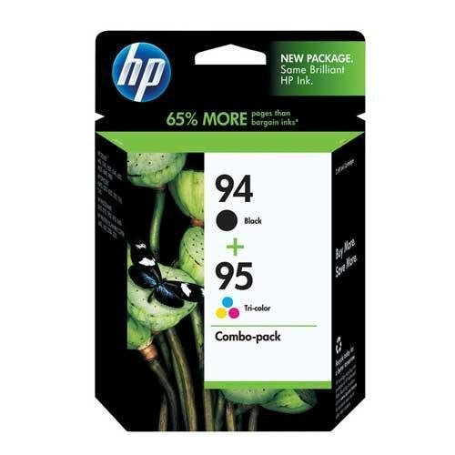HP Products - HP - C9354FN (HP 94; HP 95) Ink, 480 Page-Yield, 2/Pack, Black; Tri-Color - Sold As 1 Pack - Defined lines and smooth edges add class to any presentation. - Prints page after page of documents. - Designed to handle the toughest tasks with ease. (Hp 5740 Deskjet Printer)