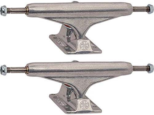 インディペンデントステージ 11-159mm 中空 スタンダード シルバー スケートボード トラック - 6.14インチ ハンガー 8.75インチ 車軸 (2個セット)