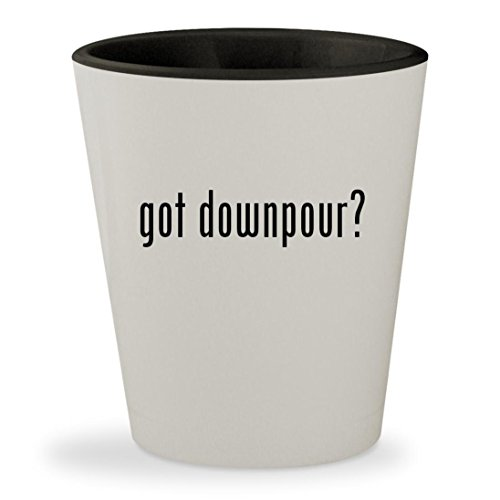 got downpour? - White Outer & Black Inner Ceramic 1.5oz Shot Glass (Silent Xbox 360 Downpour Hill)