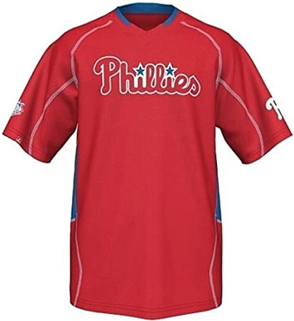 8597ff1c8 Majestic Philadelphia Phillies Men s Fast Action Jersey Red Big And Tall  Sizes ...