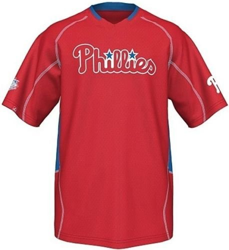 a Phillies Men's Fast Action Jersey Red Big And Tall Sizes (2XT) ()