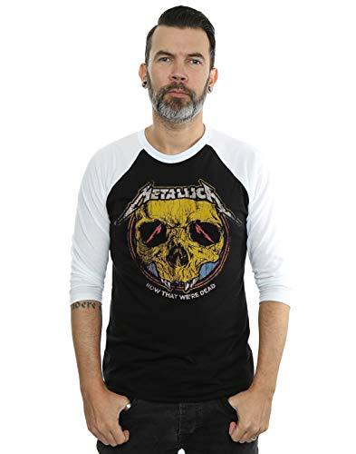 Metallica Men's Now That We're Dead 3/4 Sleeve Baseball Shirt