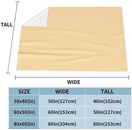 Couverture polaire Atomic Tan Solide Ultra douce et moelleuse en peluche pour canapé, lit et salon 127 x 101,6 cm