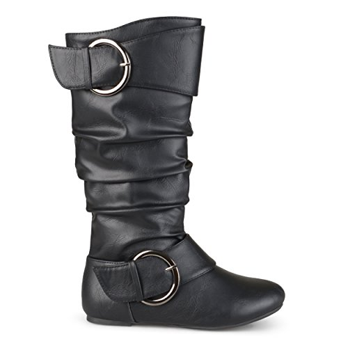 Leather 4 Buckle Boots - 6