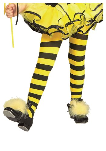 [Rubies Striped Child Bumble Bee Tights] (Toddler Bumble Bee Halloween Costume)