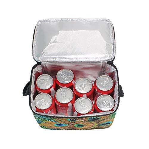 para hombro real plumas picnic de correa pavo almuerzo de Bolsa cierre de de con circulares fiambrera z6qxFvXw