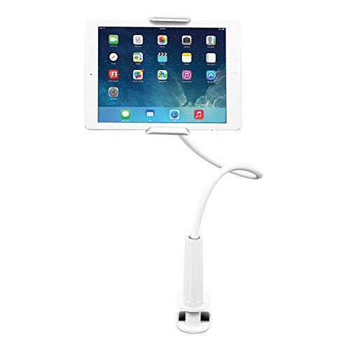 Aduro-Solid-Grip-360-Adjustable-Universal-Gooseneck-Tablet-Stand-for-Desk–Durable-Rubberized-Mount-with-Holder