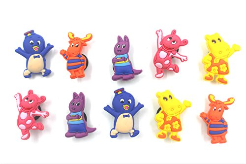 10pcs Shoe Charms for Croc & Bracelet Wristband Kids Party Birthday Gifts #032 ()
