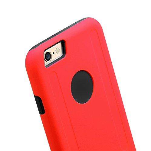 Melkco Kubalt Doppels chicht Kasten für Apple iPhone 6 - 4.7 inch (Rot / Schwarz)