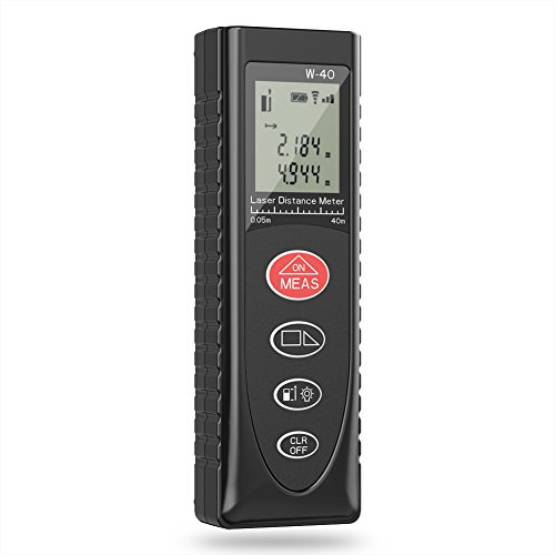 Laser Measure, Fnova 131ft 40m Mini Handheld Digital Laser Distance Meter with LCD Backlight for Distance, Area,Volume and Pythagoras theorem Measurement, Accuracy ±1.5mm 1/16