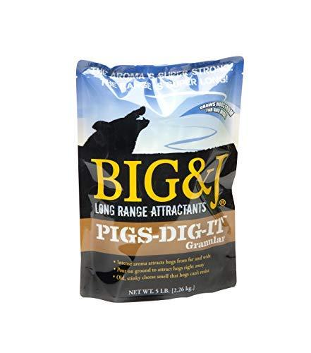 BIG & J PIGS-DIG-IT GRANULAR Hog Attractant,  Intense Aroma Attracts Hogs Far Away, Hog Hunting, 5 Pound Bag by BIG & J