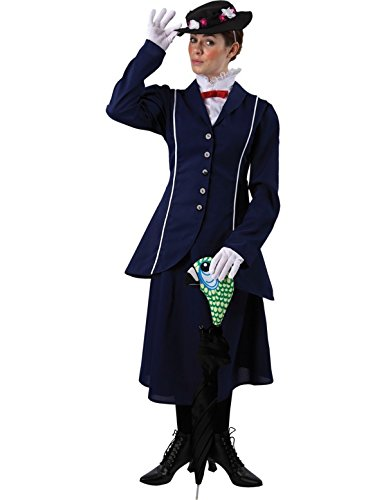 Mary Poppins Costume Film Movie Book Character Halloween Outfit (Book Costumes For Adults)