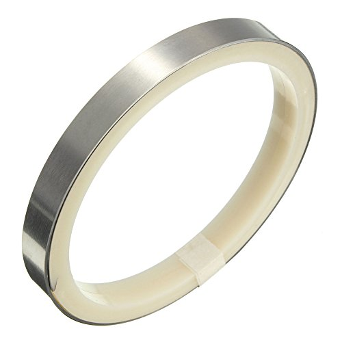 E-outstanding 5 Meter 16.4 feet Ni Plate Strip,0.1mm x 8mm Nickel-Plated Steel Tape for Li 18650 AAA AA Battery Spot Welding ()