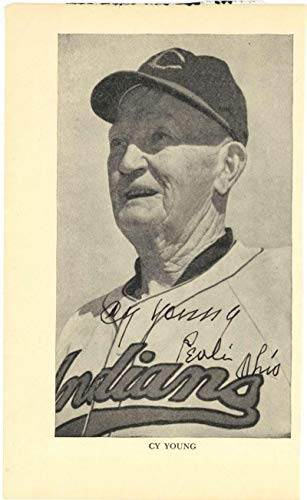 Cy Young Signed Autographed 5x8 Indians Magazine Photograph JSA Certified Autographed MLB Magazines
