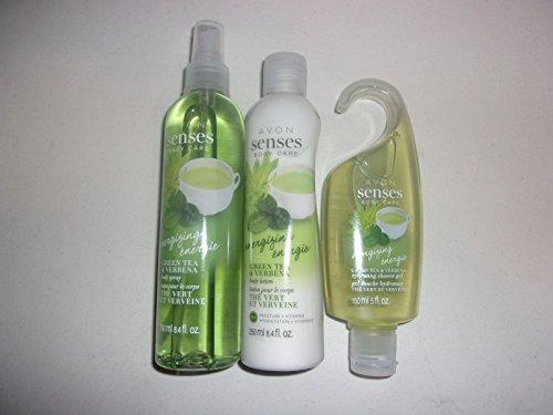 Avon Senses Energizing Green Tea & Verbena 3 Piece Set