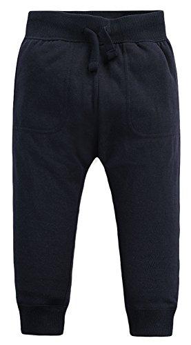 Mrignt Kids Winter Cotton Knit Elastic Pants