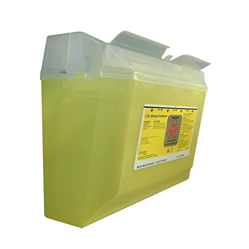 Bemis Healthcare 125 040 Bemis Healthcare Quality Medical Products Needle Disposal Products- 3 Quart Mid-Size Wall Safe - Product Number : #125 040