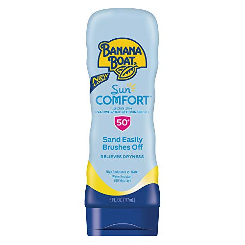 Banana Boat Sunscreen Sun Comfort Broad Spectrum Sun Care Sunscreen Lotion SPF 50, 6 Ounce