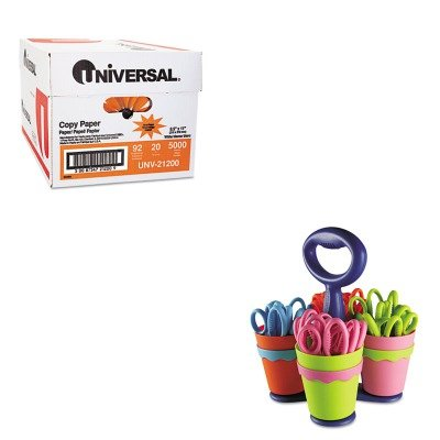KITACM14756UNV21200 - Value Kit - Westcott School Scissor Caddy and 24 Kids Scissors With Microban (ACM14756) and Universal Copy Paper (UNV21200)