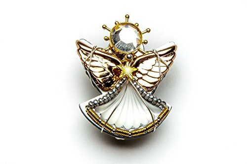 Liztech Little Angel Crystal Pin Brooch Gold Silver Rose Gold