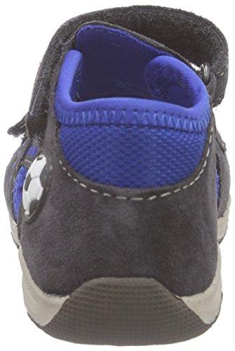 Indigo 389 066 - Sandalias Bebé-Niñas Gris - Grau (Grey/Royal Blue 209)