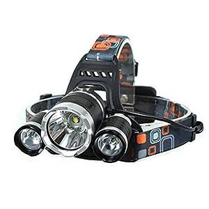 Headlamp LW-5000 3LED 10W 3-Mode 5000LM White Light Headlamp Portable Black for Camping, Traveling, Hiking, Fishing
