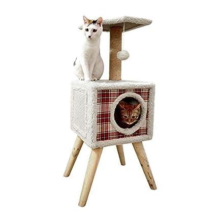 Suministros para mascotas Poste para rascar gatos, casa para ...