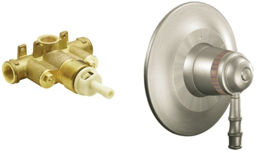 Moen TS88110BN-S3371 Bamboo ExactTemp Tub/Shower Valve Trim Kit with Valve, Brushed Nickel Bamboo Single Handle Tub