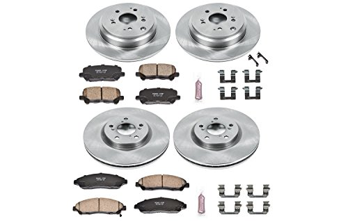 Power Stop KOE5369 Autospecialty By Power Stop 1-Click Daily Driver Brake Kits Incl. 12.99 in. Front/13.15 in. Rear OE Replacement Rotors w/Z16 Ceramic Scorched Brake Pads Autospecialty By Power Stop 1-Click Daily Driver Brake Kits
