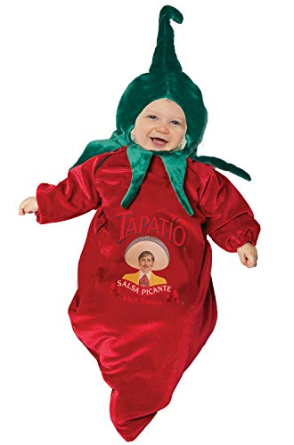 Baby Chili Pepper Costume (Underwraps Kid's Baby's Officially Licensed Tapatio Chili Bunting Costume Childrens Costume, Multi,)