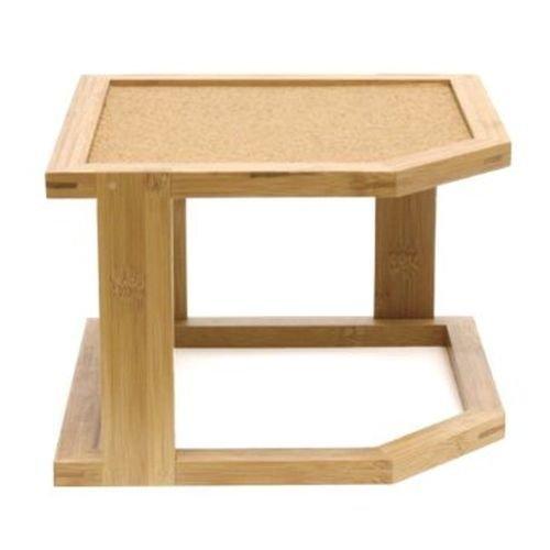 Lipper International 8309 Bamboo Wood 2-Tier Corner Shelf with Cork Lining, 10-1/4
