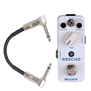 mooer reecho digital delay guitar effect pedal w patch cable musical instruments. Black Bedroom Furniture Sets. Home Design Ideas