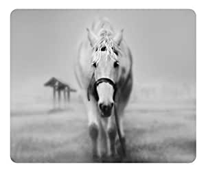 Brain114 Customized Mouse Pad Oblong White Horse Personalized Mousepad Non-Slip Gaming Mouse Pads
