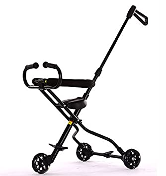 47283aa7913 3 Wheels Baby Stroll Artifact Children Trolley Folding Lightweight Portable  Tricycle Tourism Kids Trike Child 1-6 Years Old (Color : Black):  Amazon.co.uk: ...