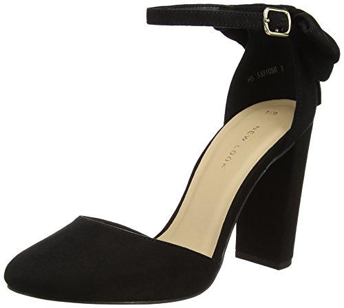 Mujer De Para New Negro Tobillo Y black Zapatos Look Correa Tacon Safety Con WqwHUB6vq