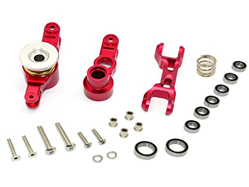 pgrade Parts Aluminum Steering Assembly - 1 Set Red (Gpm Steering Assembly)
