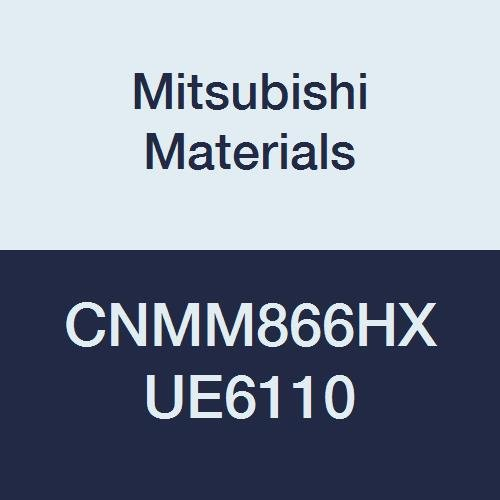Mitsubishi Materials CNMM866HX UE6110 Coated Carbide CN TYPE Negative Turning Insert with Hole, General Cutting, Rhombic 80°, 1'' IC, 0.375'' Thick, 0.094'' Corner Radius, HX Breaker (Pack of 10) by Mitsubishi Materials