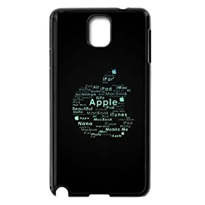 apple logo typography Samsung Galaxy Note 3 Cell Phone Case Black 53Go-032731