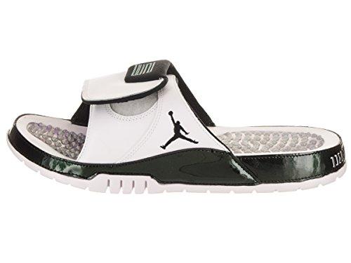 Jordan Nike Mens Hydro Xi Sandalo Retrò Bianco / Smeraldo Nero Rialzato